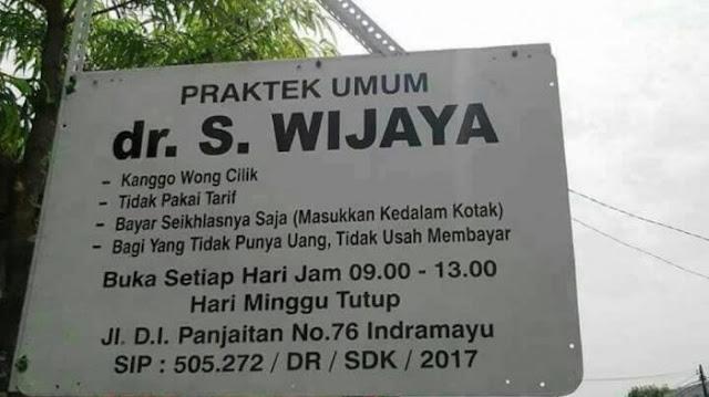 Buka klinik untuk wong cilik, Dokter Wijaya panen pujian dari warganet se-Indonesia