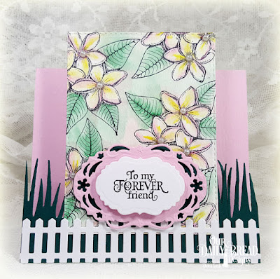 Our Daily Bread Designs Stamp Set: Sweet as Perfume, Our Daily Bread Designs Custom Dies: Vintage Borders, Vintage Labels, Grass Border, Fence, Pierced Rectangles, Fun and Fancy Folds (Center Step)