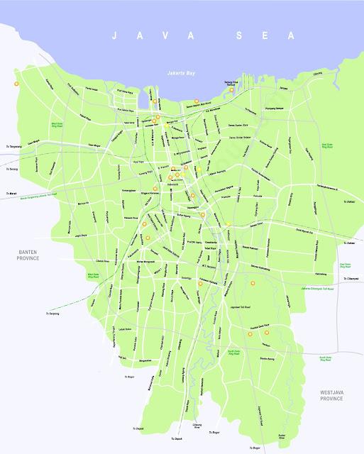 Gambar Peta Jakarta lengkap