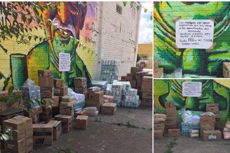 """Grupos del Narco; """"Gente Nueva"""" y """"Cárteles Unidos"""", dejan donativo para victimas del temblor"""