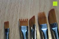 Borstenformen: Pinselset Ölmalpinsel - ZWOOS 12 Stk Nylonhaar Pinselset Ölmalpinsel Künstler Aquarell Acryl Ölmalerei Flachpinsel ,Schwarz