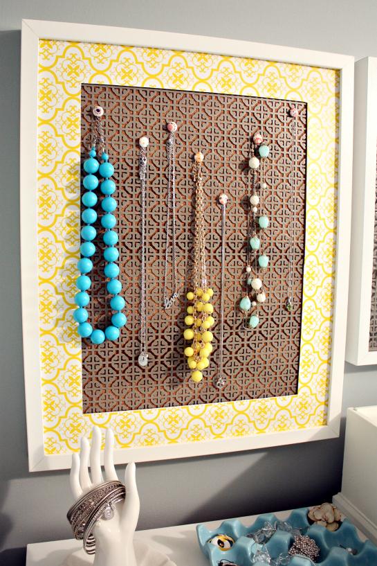 Iheart Organizing A Simple Diy Jewelry Display