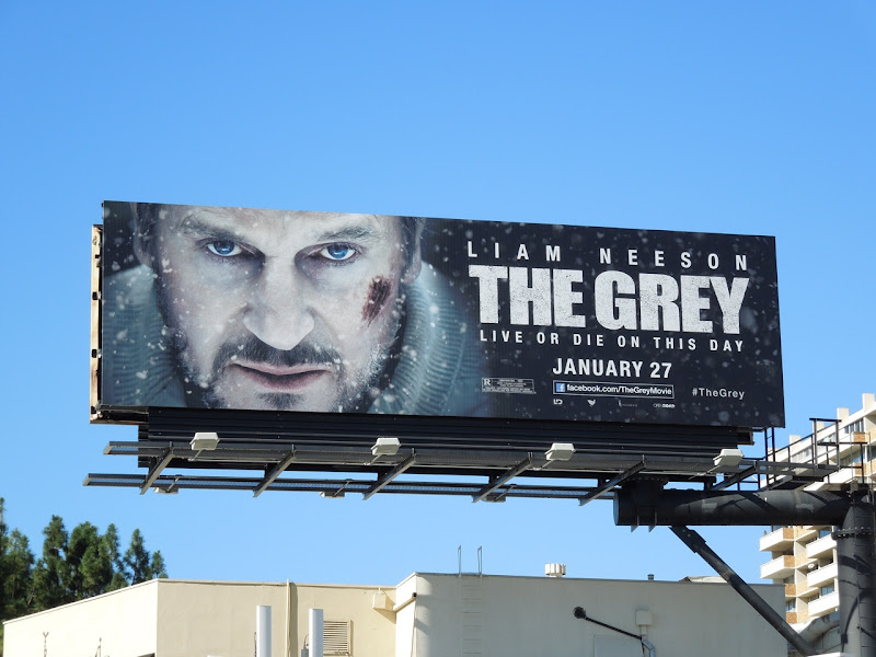 Liam Neeson The Grey billboard