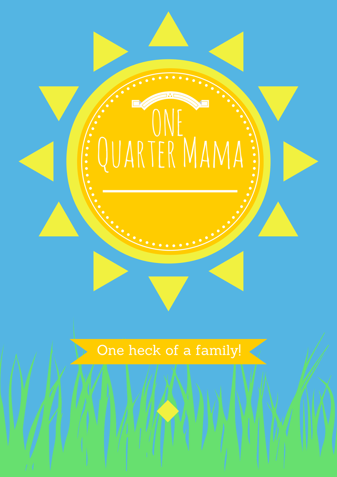 One Quarter Mama Logo Copyright2014 on onequartermama.ca