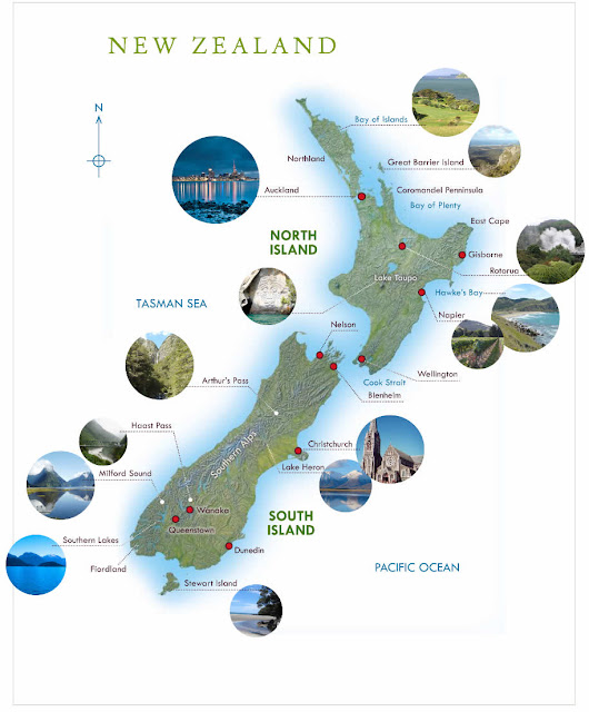 Zelanda e Re - Hartat gjeografike e Zelandës së Re