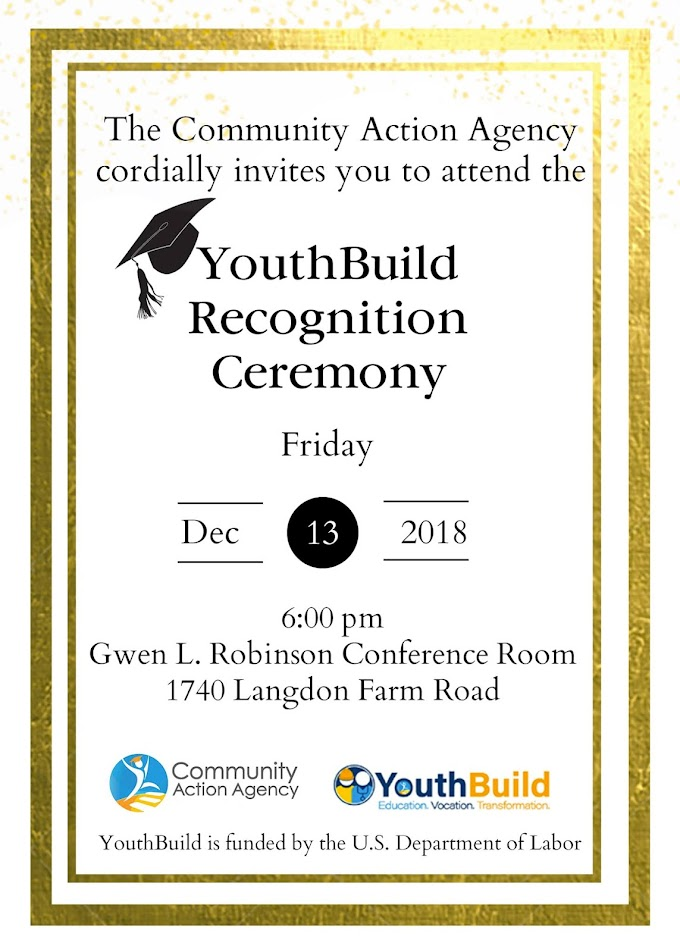 YouthBuild Recognition Ceremony