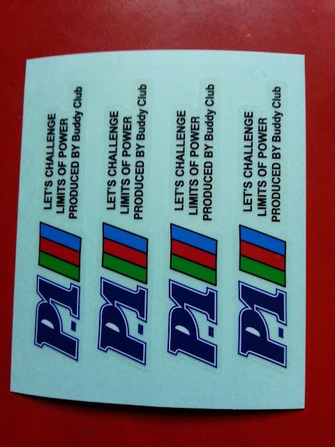 P1 Racing - FK by Buddy Club 4 sticker