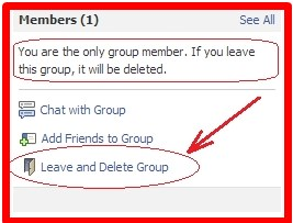 how to delete a facebook group fast
