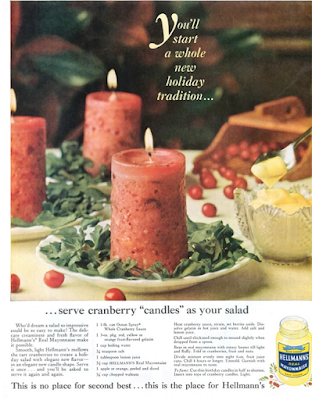 Hellmans Cranberry Candles