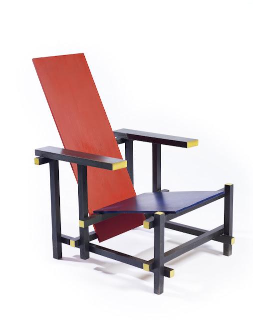 Gerrit Rietveld | Cadeira Vermelho Azul 1923) | executado por Gerard van de Groenekan | Crédito: Gemeentemuseum, Den Haag, Holanda © Rietveld, Gerrit T. /AUTVIS, Brasil, 2016