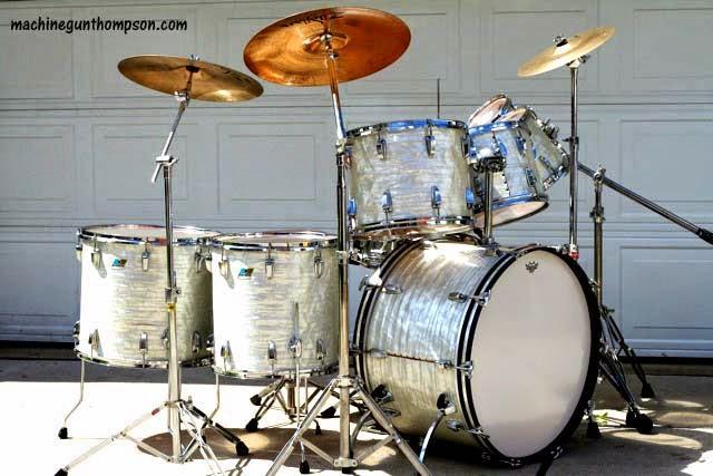 retro kimmer 39 s blog machine gun 39 s favorite ludwig drum set for sale. Black Bedroom Furniture Sets. Home Design Ideas