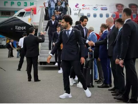 Egypt team in Russia