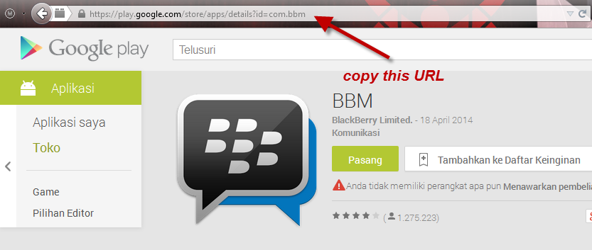 Cara Mudah Download File Andoid APK dari Google Play Store Via PC