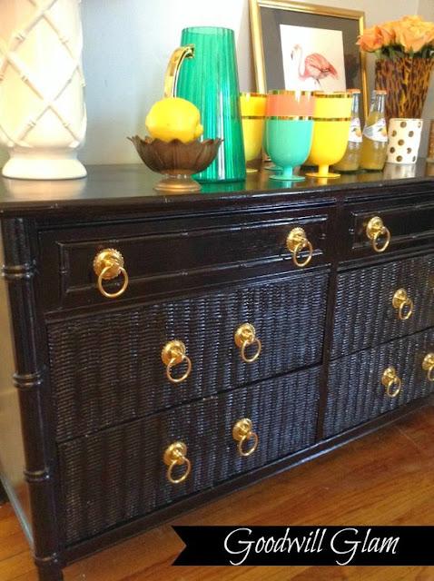 black bamboo dresser