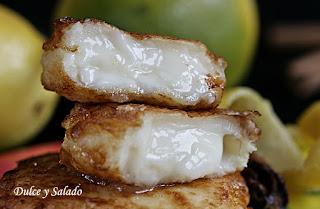 Leche Frita con Crema en Microondas
