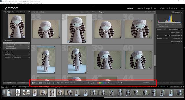 Curso de Lightroom - 08. Biblioteca - Barra de herramientas