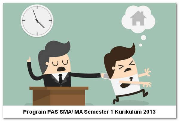 Program PAS SMA/ MA Semester 1 Kurikulum 2013