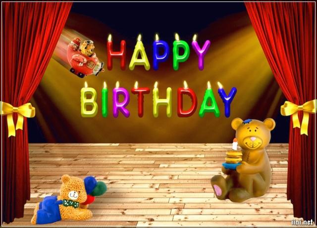 ảnh mừng sinh nhật hình chú gấu