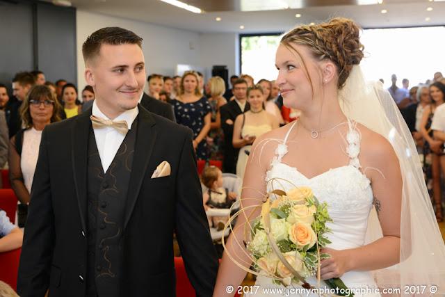 regard des mariés photo du oui