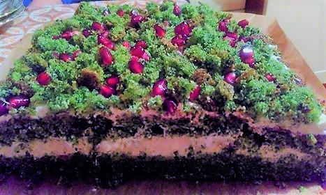 Wpis gościnny Przez życie z uśmiechem - ciasto leśny mech