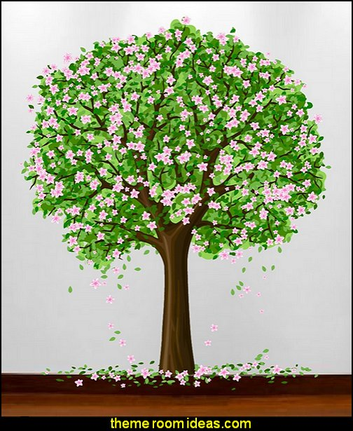 Decorating theme bedrooms maries manor tree murals for Cherry blossom tree mural