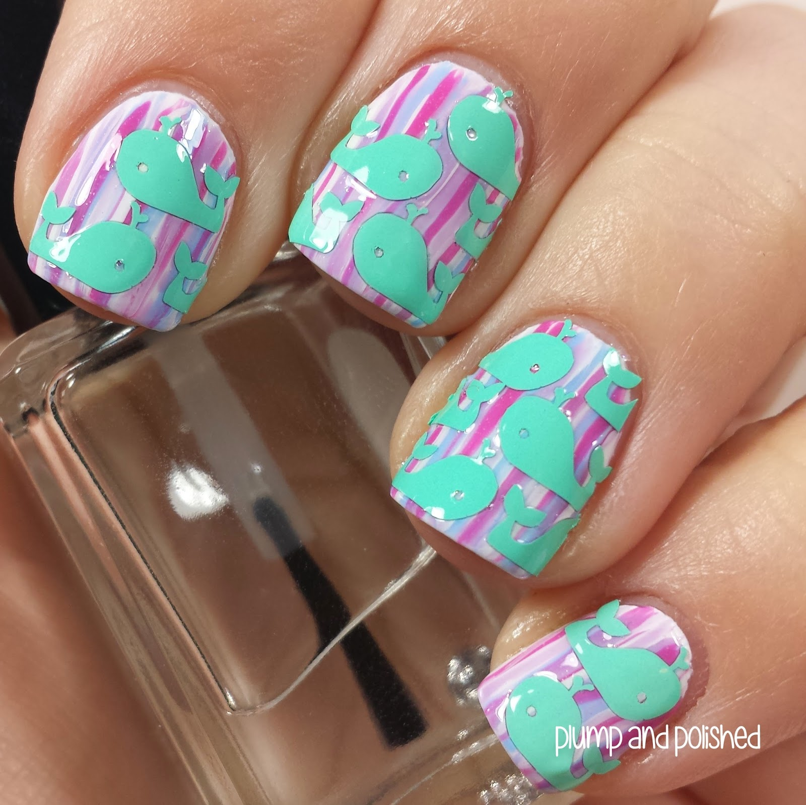 Plump and Polished: Lacquer by Lissa - Whale Nail Art Decals