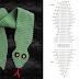 Serpiente Patron de Crochet