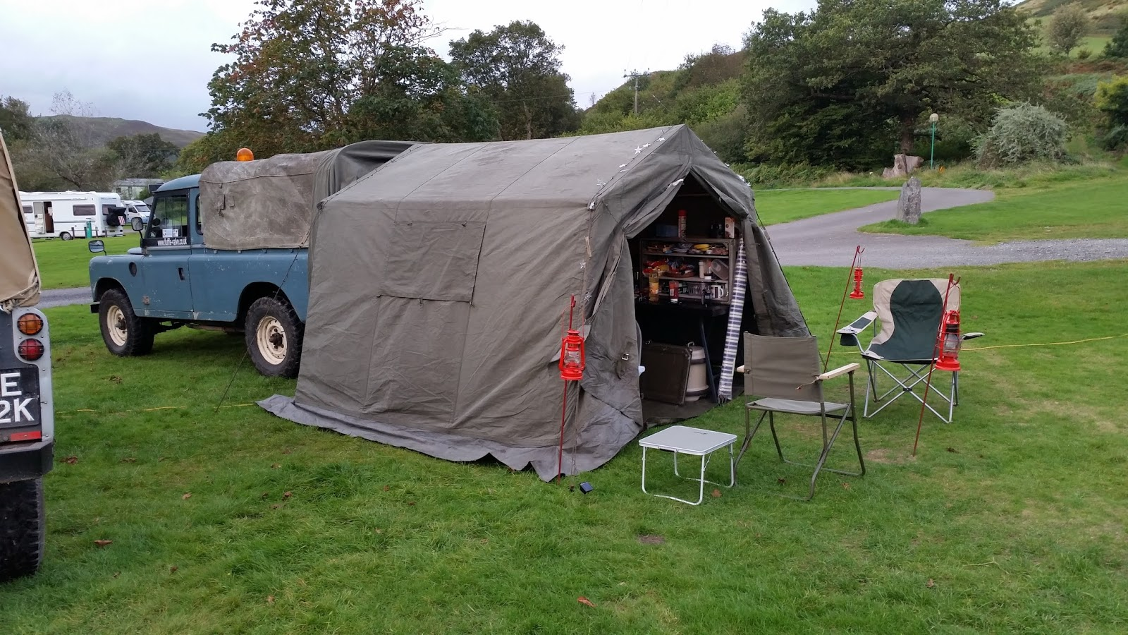 Once a year a member Paul Bonham of the Land Rover Series 2 club puts together a  Get Together  and several of us venture off to Wales. & Fluffle-Valve-Express: Military 9x9 Command Post Tent.