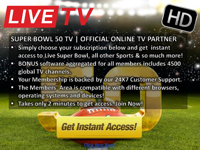 Watch Broncos vs Panthers NFL Super Bowl 50 Online