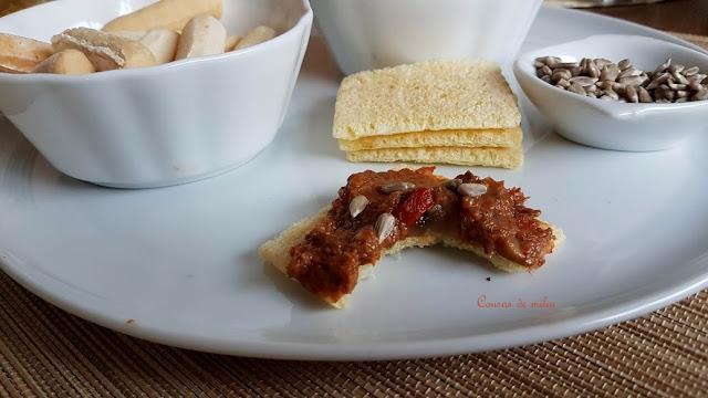 Paté de champiñones y piquillos - champiñones
