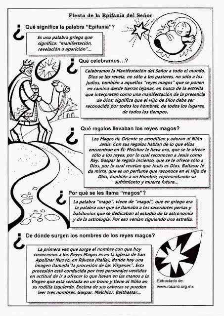 Matrimonio Catolico Resumen : Parroquia la inmaculada fichas sobre epifanía