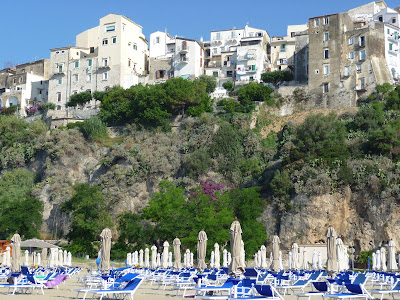Sperlonga is a lovely hill town in southern Lazio, where a signature dish is Tiella, a scrumptious stuffed pizza.