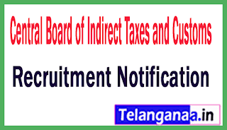 Central Board of Indirect Taxes and Customs CBIC Recruitment