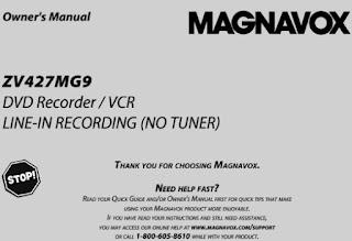 Magnavox ZV427MG9 Manual
