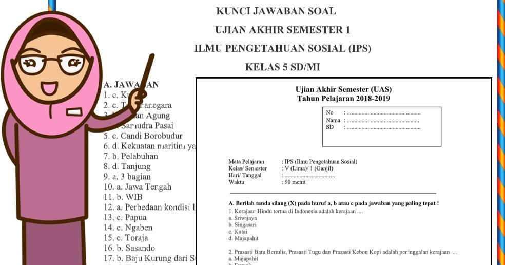 Soal UAS IPS Kelas 5 Semester 1 Dan Kunci Jawaban ...