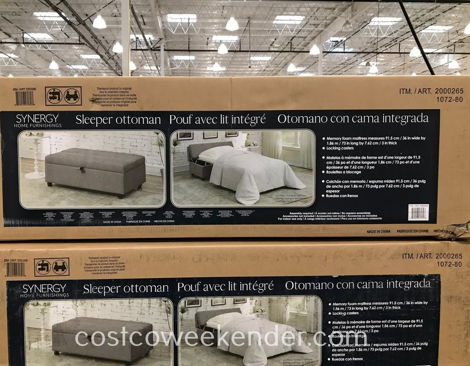 Costco 2000265 - Synergy Fabric Sleeper Ottoman: practical to have in your home