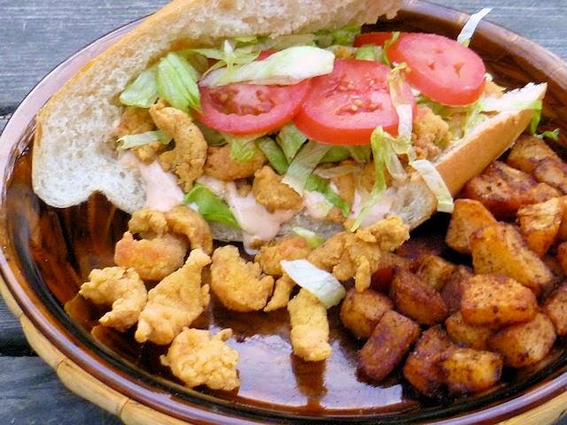 Fried Crawfish Po'Boys w/ Cajun Power Mayo