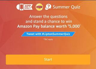 Amazon Summer Quiz – Answer & win Rs.5000
