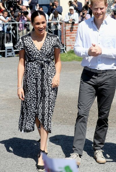 Meghan Markle wore a new maxi wrap dress by Mayamiko