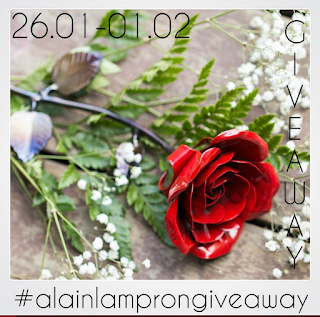 Hand forged metallic engraved rose Giveaway