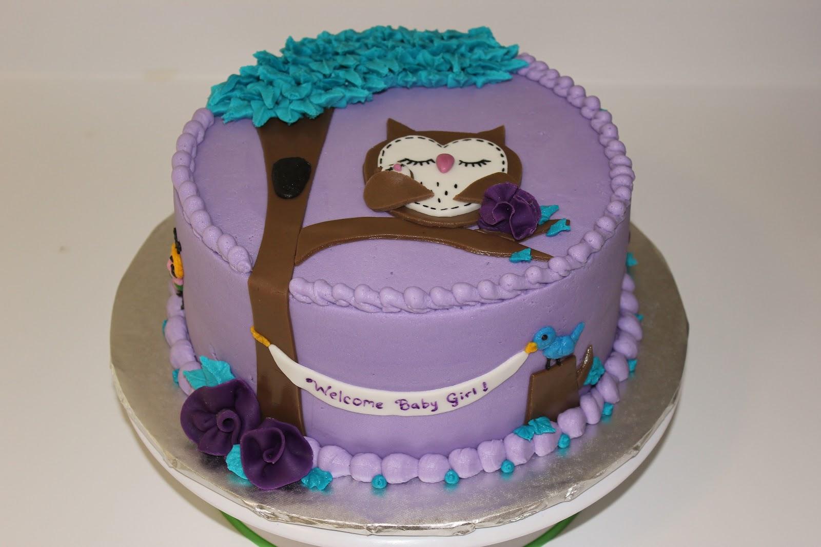 Blessed Hands Cake Design Owl Baby Shower Cake