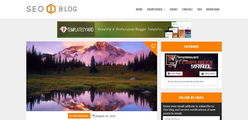 Seo-Blog Free Blogger Template