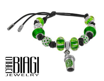 Carlo Biagi Versatile Black Leather Slide Bracelet or Necklace