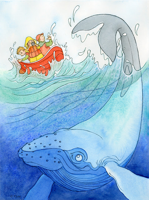 Splash! Whale watching...
