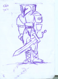 Armored Swordsman drawing