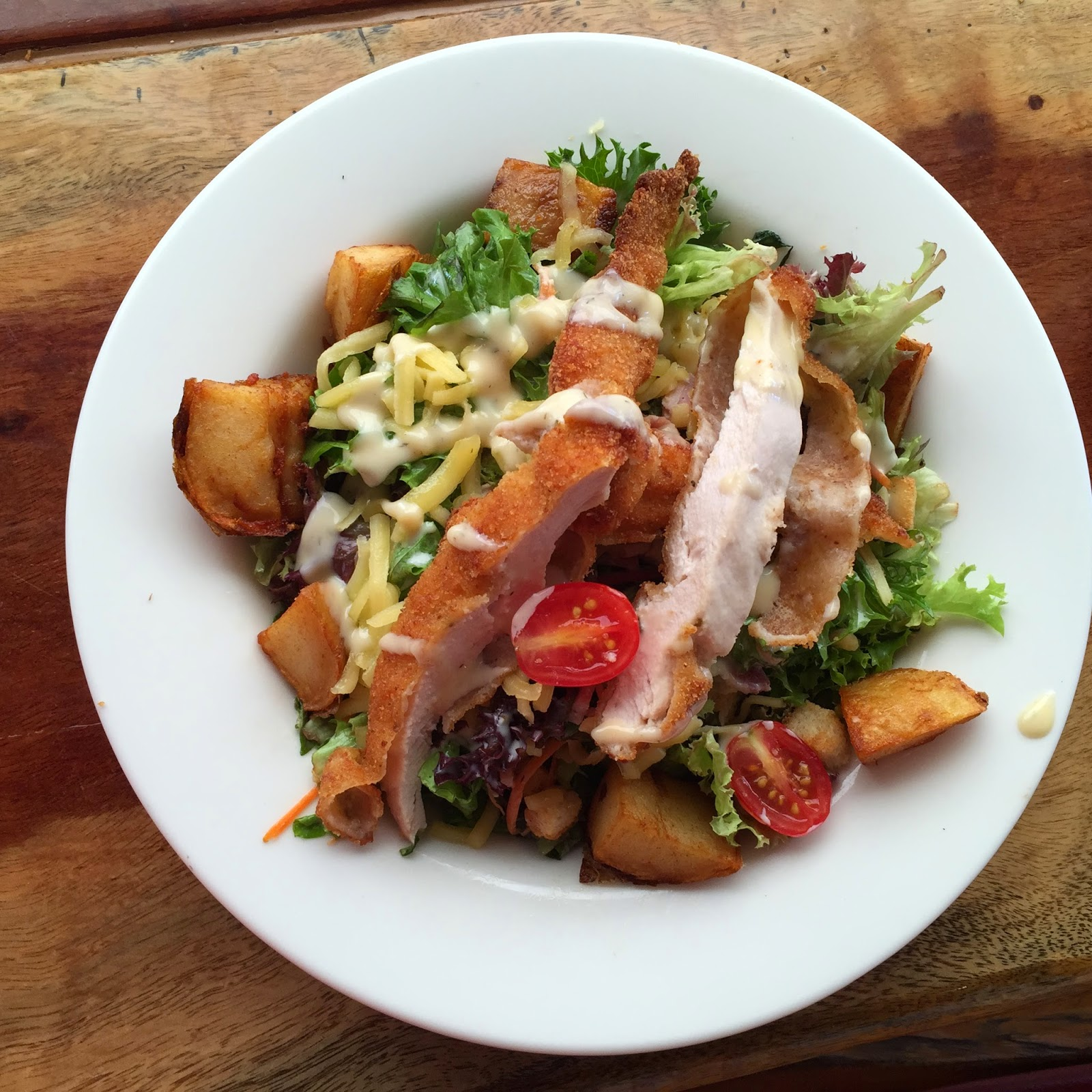 SFH Lunch at Cronulla Beach - Chicken Ranch Salad.