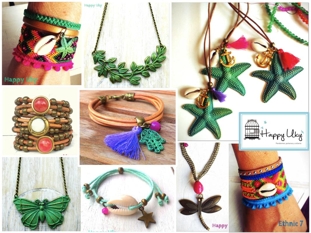collares pulseras happy uky aguamarina turquesa