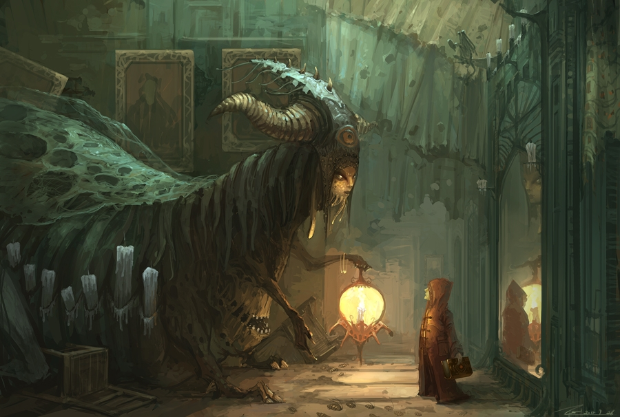 02-Servant-of-the-Castle-ZERG118-Dreams-Made-of-Fantasy-Worlds-and-Creature-Illustrations-www-designstack-co