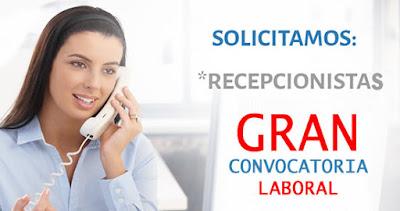 Gran convocatoria asistentes administrativa recepcionista- presentese