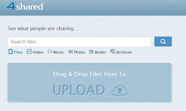 4shared - Cloud υπηρεσία με 15 GB δωρεάν αποθηκευτικό χώρο